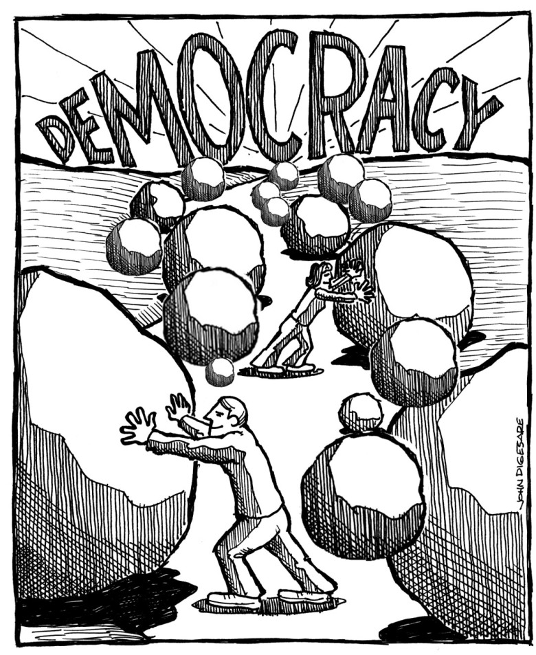 Image result for Road to Democracy cartoon