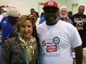 Kay Hagan and Tim Rorie